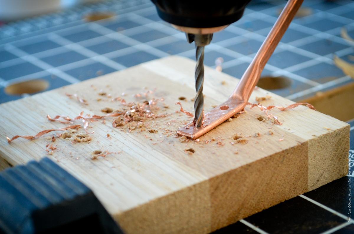 Tillverka spöhållare ismete - borra vipphållare