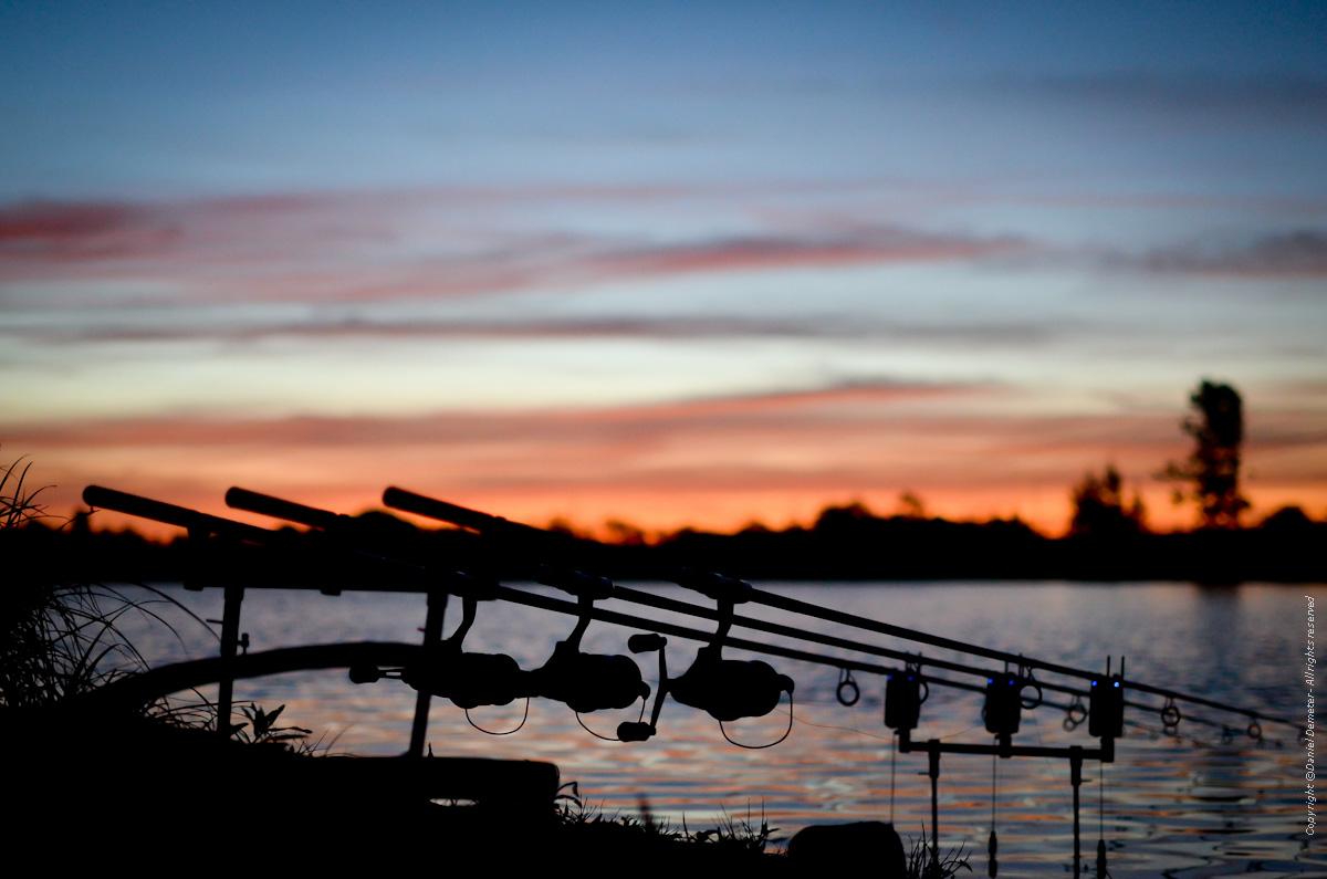 Soluppgång Lilla Tjärby sjö