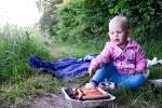 Grill med dottern